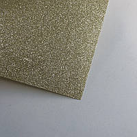 Термотрансферна плівка - глітер - холодне золото - 10х25 см