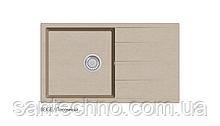 Кварцевая прямоугольная мойка для кухни песочная Fabiano Classic XL 86x50 Beige