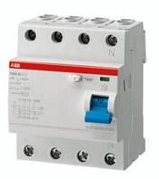 Защитное устройство УЗО четырехполюсное FH204AC-63/0,03А, 30мА, АВВ