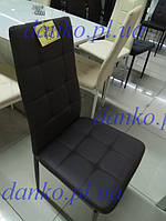 Стул N-66-2 темно-коричневый от Vetro Mebel, экокожа