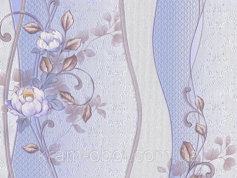 Шпалери Слов'янські Шпалери КФТБ паперові дуплекс 10 м*0,53 9В64 Півонія 8164-03