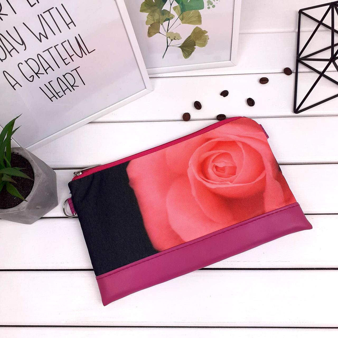 Клатч Moderika Lady разноцветный с рисунком Роза(44231)