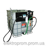 Мини АЗС -Мобильный топливный заправочный модуль для ДТ на базе Еврокуба, 1000 литров, 220 вольт