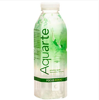 Вода мінеральна негазована з екстрактом женьшеню та смаком яблука 0,5л Aquarte Focus