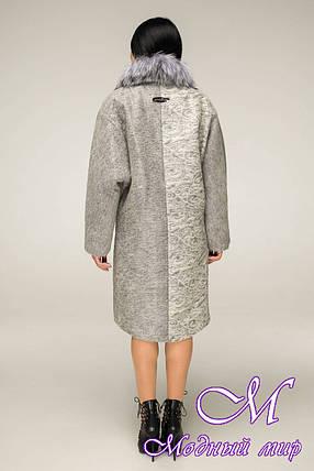 Женское зимнее пальто с красивым мехом (р. 44-58) арт. 12-12/3 ч/б, фото 2
