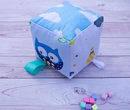 Бизикубик для детей развивающий ручной работы мягкий 6