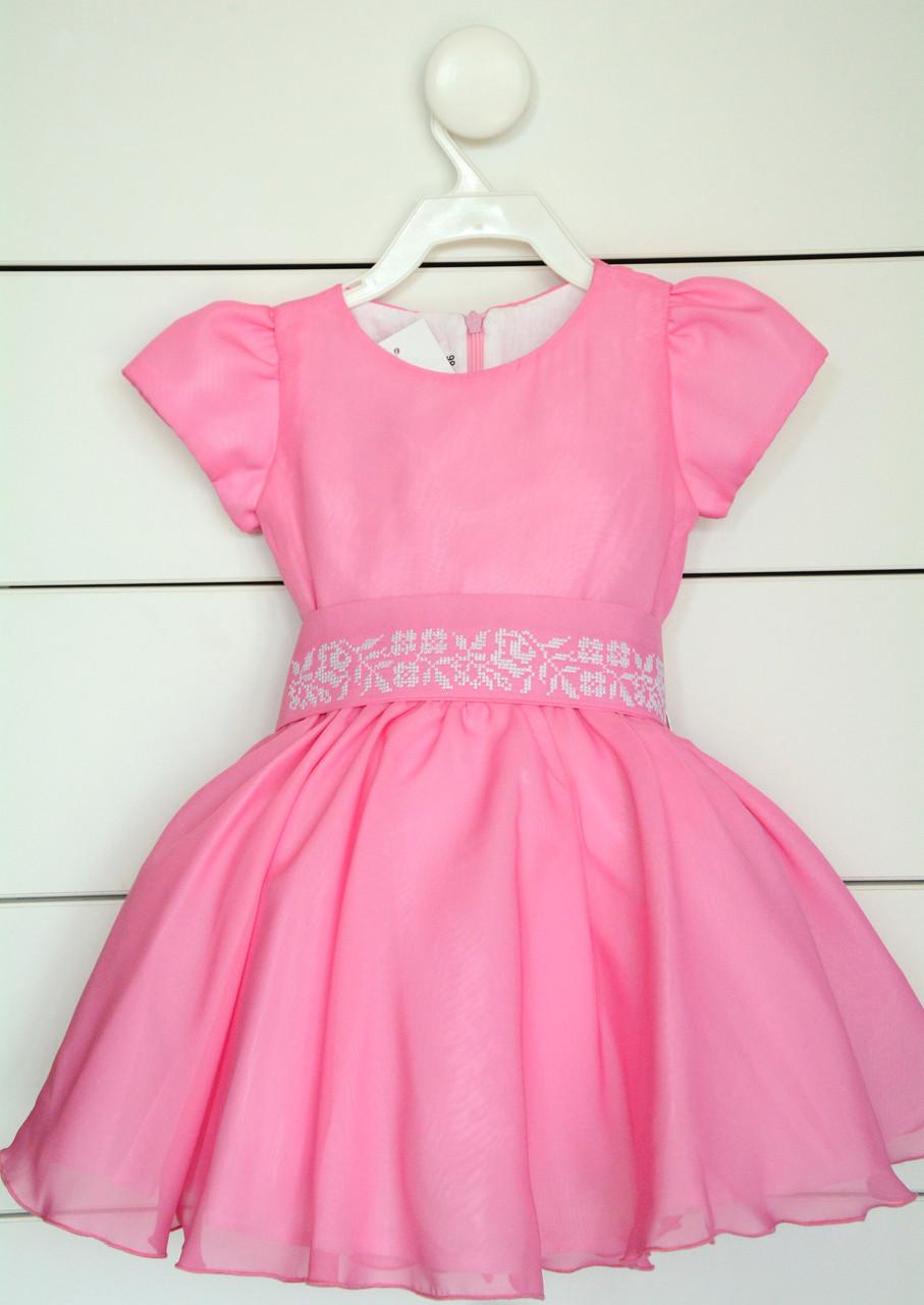 Платье для девочки с вышивкой на рост 80 см, 86 см, 92 см
