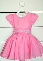Платье для девочки с вышивкой на рост 80 см, 86 см, 92 см, фото 1