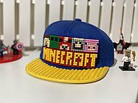 "Бейсболка конструктор ""Майнкрафт"" желтая  Код 12-0828"