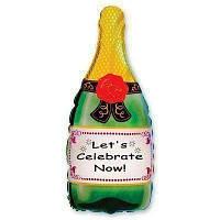 Фольгована кулька велика фігура Шампанське 35х91 см Flexmetаl