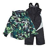 Комплект раздельный зимний, термо, мембранный на мальчика: куртка и комбинезон.110 рост