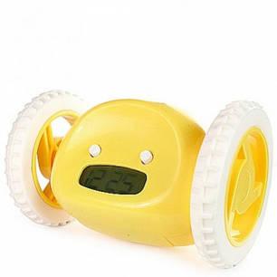 Тікає будильник на коліщатках Будильник Clocky Run Yellow, фото 2