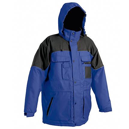 Куртка рабочая утепленная Červa ветро-водонепроницаемая ULTIMO синяя с черным, фото 2