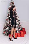 """Жіноча сукня  """"Трикотаж і  вишивка на сітці""""  від СтильноМодно, фото 4"""