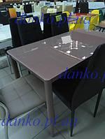 Стол Т-300-11 кофе мокко глянец Vetro Mebel 110*60, стекло