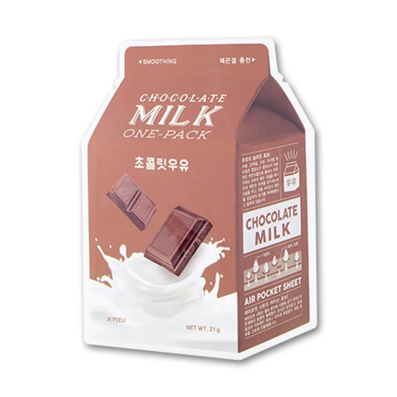 Смягчающая тканевая маска для лица с молочными протеинами и экстрактом какао A'pieu Chocolate Milk One-Pack 21 мл (8806185780261)