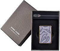 Зажигалка на подарок USB Зажигалка 4360-11 Стильный и оригинальный аксессуар курильщика Практичный подарок