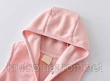 Комбинезон для девочки флисовый утеплённый Маленькое сердечко, светло-розовый Berni, фото 2
