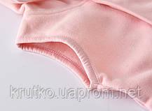 Комбинезон для девочки флисовый утеплённый Маленькое сердечко, светло-розовый Berni, фото 3