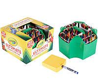Большой подарочный набор восковых цветных мелков 152 шт. с точилкой Crayola