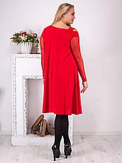Платье женское нарядное батал электрик скрывающее, фото 2