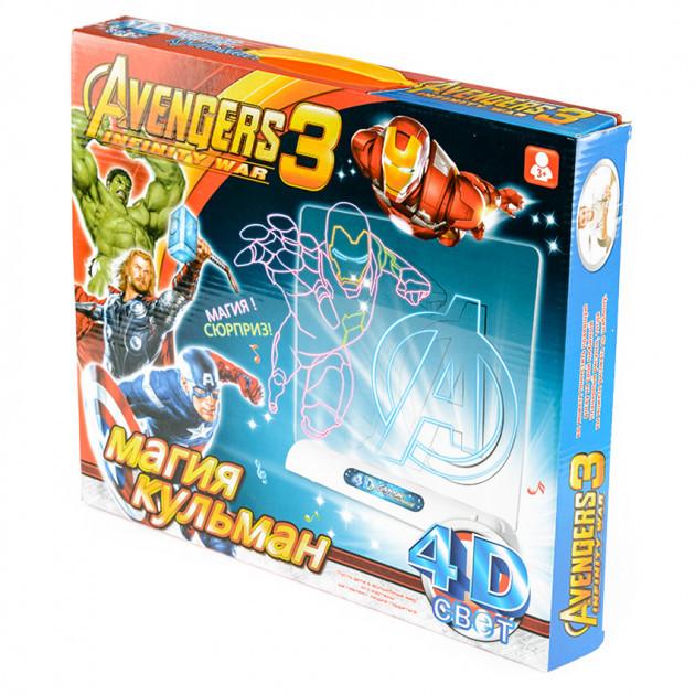 4D свет, доска для рисования с 3D очками Avengers