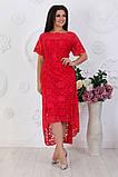 Женское  вечернее удлиненное платье,размеры:50,52,54,56,58., фото 6