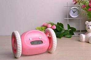 Убегающий будильник на колесиках Alarm Clocky Run Pink, фото 2