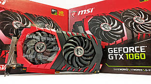 Видеокарта MSI GTX1060 (6GB/GDDR5/192bit) GTX 1060 Gaming X 6G БУ
