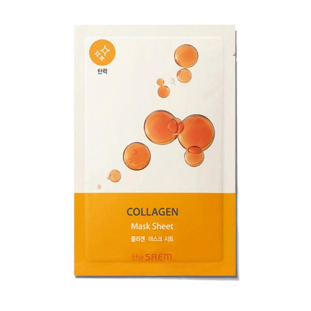 Тканевая био-маска для лица The Saem Bio Solution Firming Collagen Mask Sheet, 22 мл