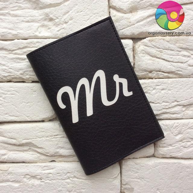 Обложка для паспорта Mr (черный)