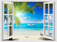 ЗД Фотообои Вид из окна на океан арт. 5130620192