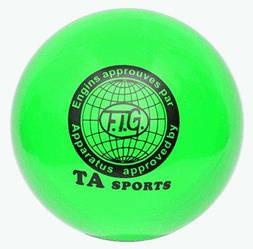 """М'яч для художньої гімнастики """"TA sport T-9"""" - 19 див. Зелений з блискітками"""