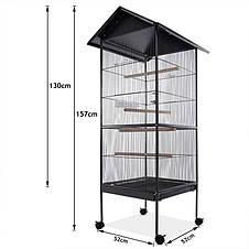 Великий вольєр клітина Bird House XL для папуги, канарки, хвилястих папужок - 157 х 49 х 49 см, фото 3