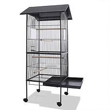 Великий вольєр клітина Bird House XL для папуги, канарки, хвилястих папужок - 157 х 49 х 49 см, фото 2