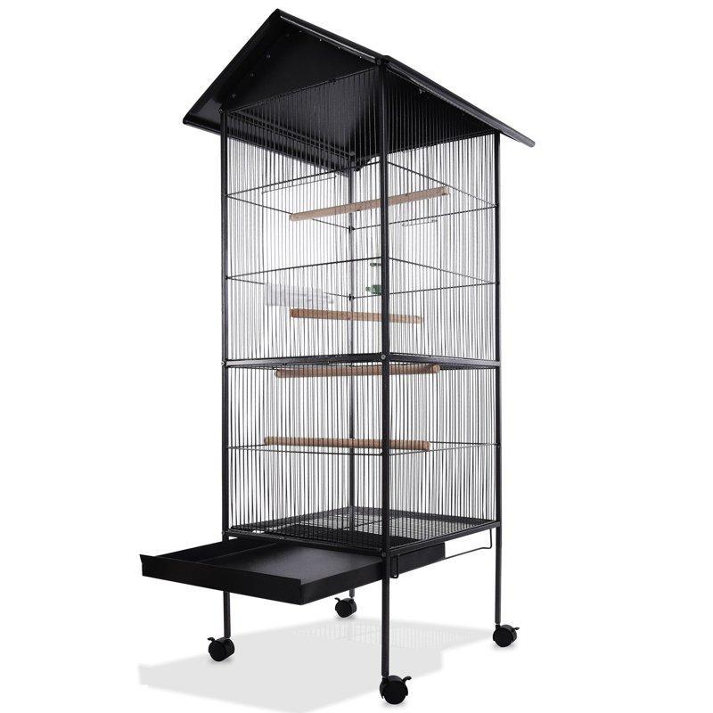 Великий вольєр клітина Bird House XL для папуги, канарки, хвилястих папужок - 157 х 49 х 49 см