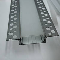 Профиль для светодиодной ленты под штукатурку в Гипсокартон 75х18,5мм, фото 1