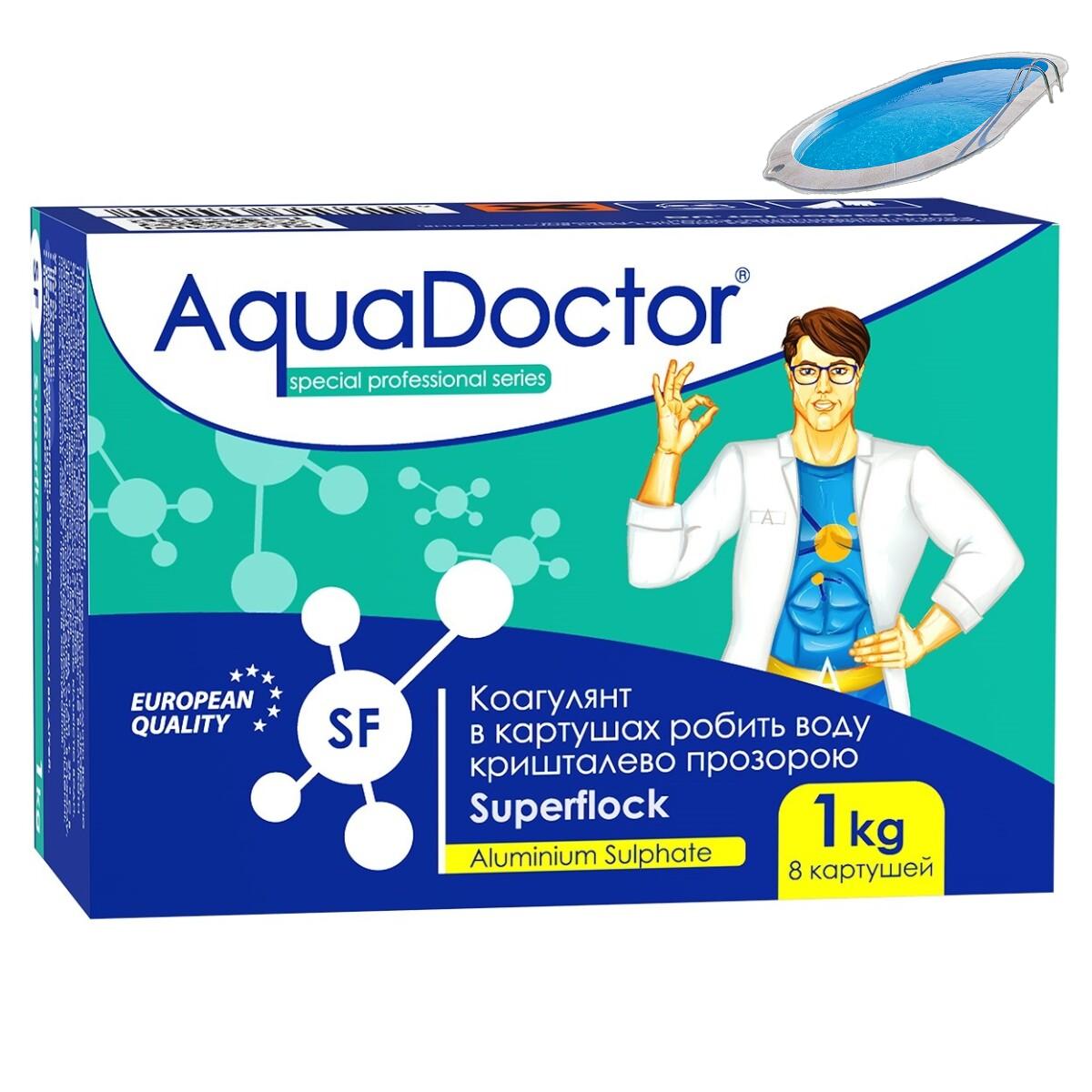 Коагулирующее средство в картушах AquaDoctor Superflock  1 кг. Флокулянт для бассейна