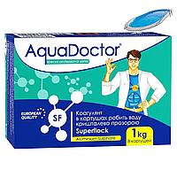 Коагулирующее средство в картушах AquaDoctor Superflock  1 кг. Флокулянт для бассейна, фото 1