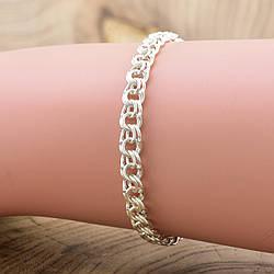 Серебряный браслет Бисмарк длина 22 см ширина 4 мм вес серебра 6.4 г