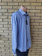 Рубашка мужская коттоновая брендовая высокого качества BENRICH, Турция, фото 3