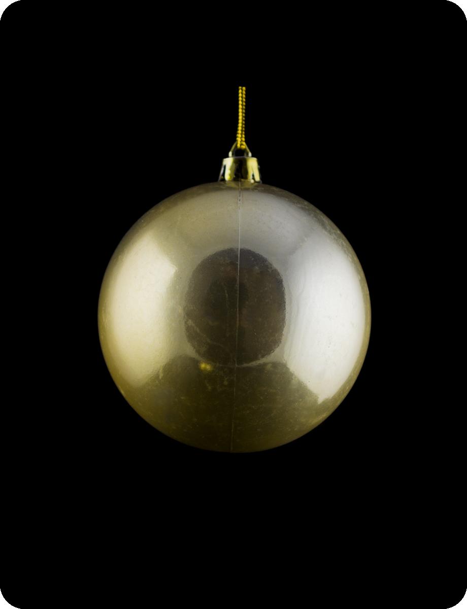 Шар новогодний на елку. Диаметр 8см. Цвет золотой перламутр