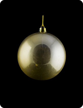 Шар новогодний на елку. Диаметр 8см. Цвет золотой перламутр, фото 2
