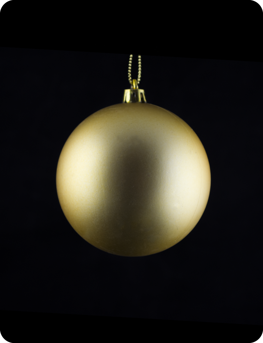 Шар новогодний на елку. Диаметр 8см. Цвет золотой матовый