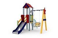 Детский комплекс Бабочка, высота горки 0,9 м  Kidigo (11642), детские игровые площадки.