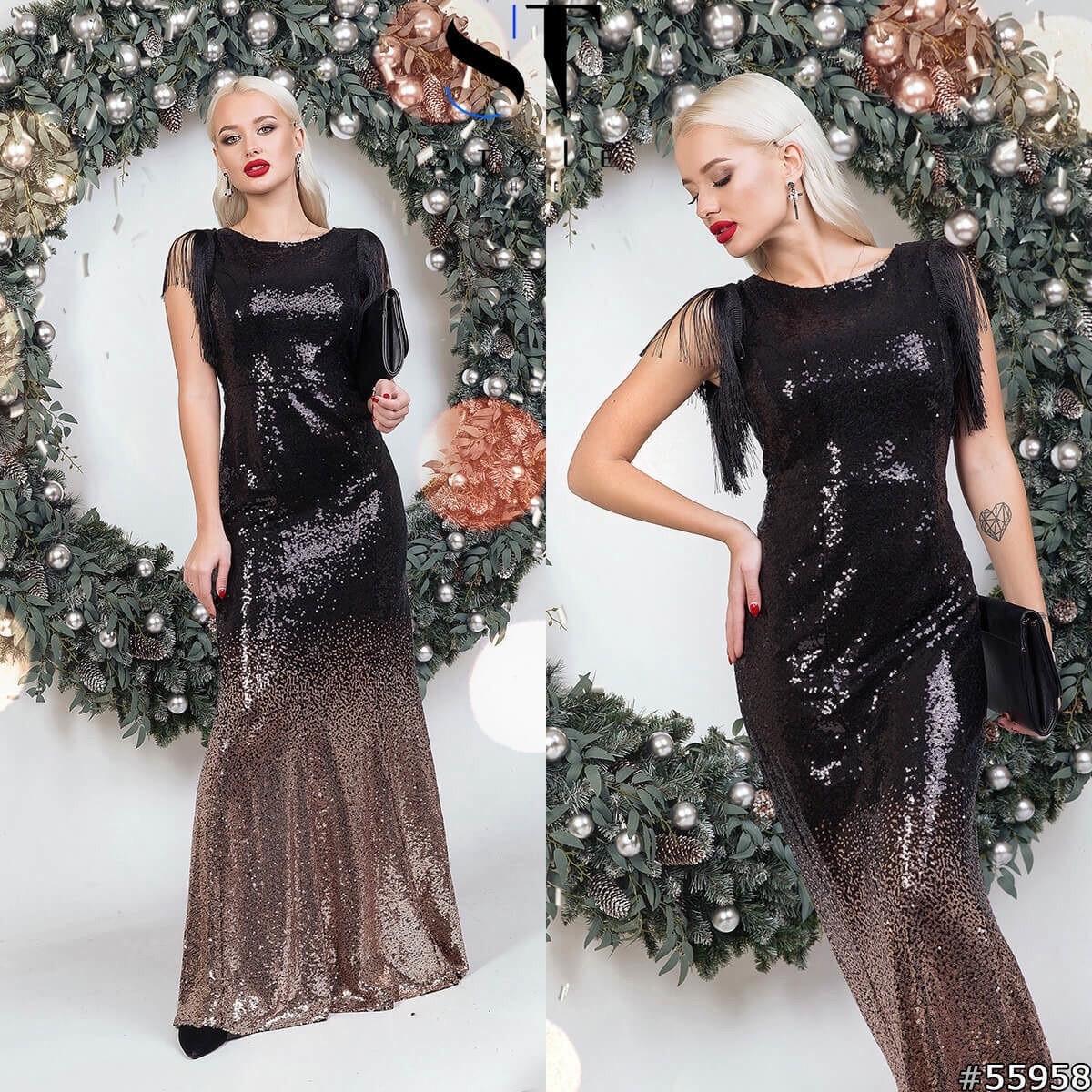 Восхитительное платье из пайетки омбре