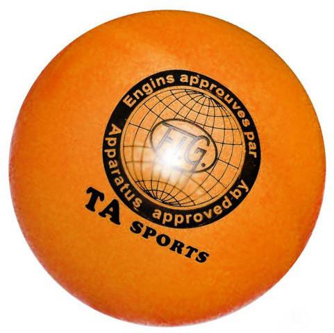 Мяч для художественной гимнастики TA sport T-12 - 15 см. Жёлтый с блестками