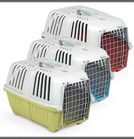 Переноска, контейнер для котов и собак PRATIKO Metal 48*31,5*33h (вес до 12кг)