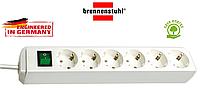 Удлинитель Brennenstuhl Eco-Line на 6 розеток с кнопкой  белый 1,5m