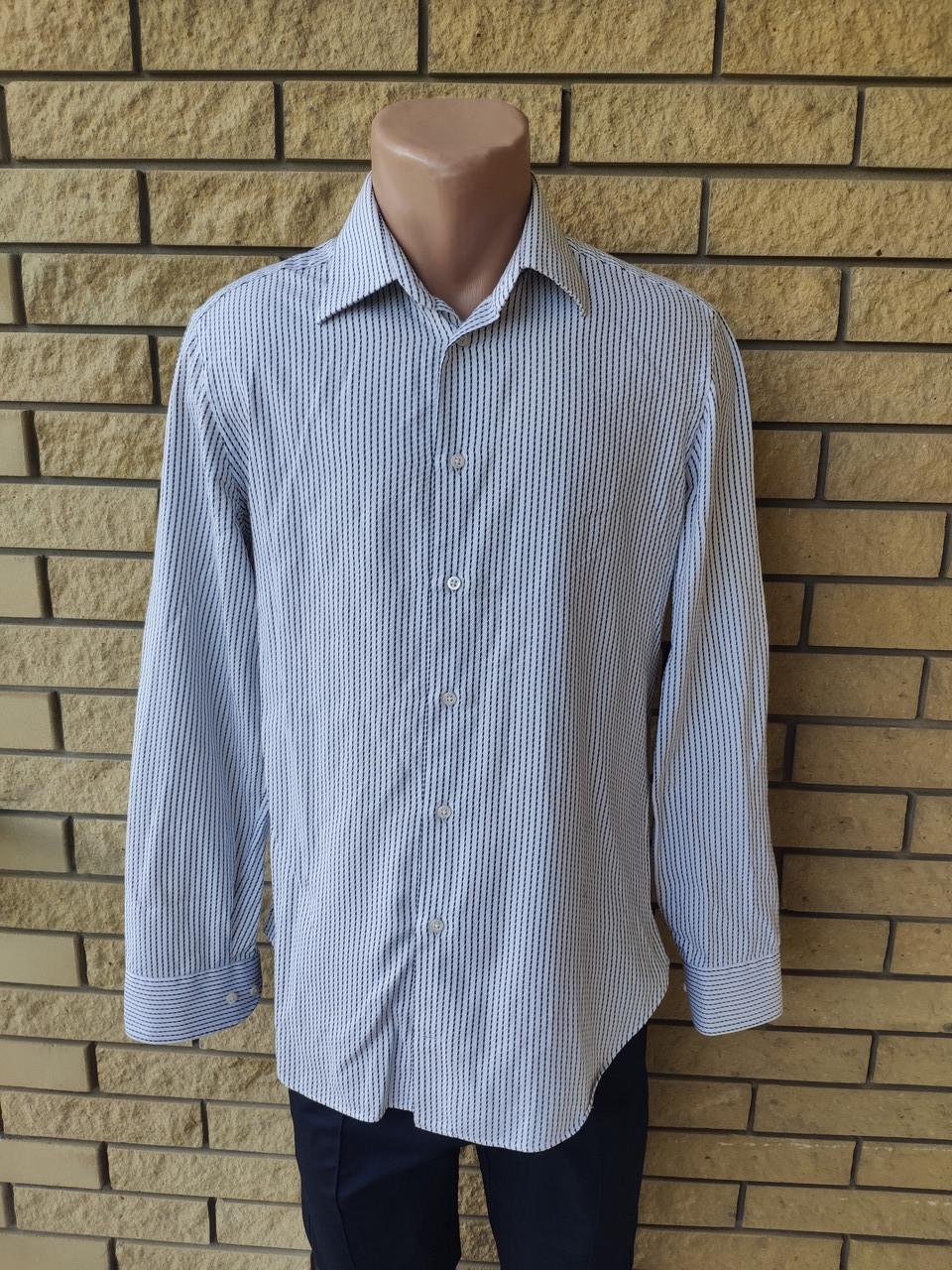 Рубашка мужская коттоновая брендовая высокого качества реплика ARMANI, Турция